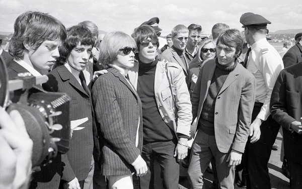 The Rolling Stones arrives at Fornebu airport in Oslo, June 1965