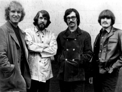 Creedence Clearwater Revival (1968). L-R: Tom Fogerty, Doug Clifford, Stu Cook, and John Fogerty