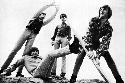The Monkees from a full page ad for their third record album. From left: Mickey Dolenz, Davy Jones, Mike Nesmith, Peter Tork.